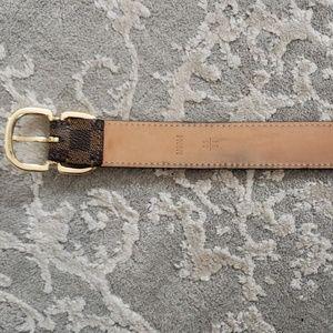 Louis Vuitton Accessories - Louis Vuitton Damier Ebene Women's Belt Sz 85/34